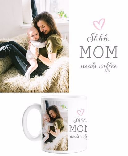 Picture of Mom Needs Coffee Mug with Custom Image