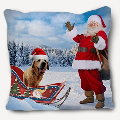 Picture of Adventure Pets Pillow - Santa's Helper