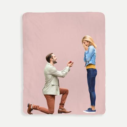 Dark Pink Background Blanket