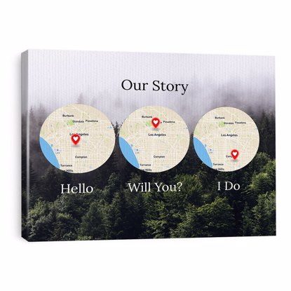 Picture of Forest Hello, Will You, I Do Custom Maps Canvas 16x20