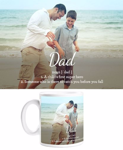 Picture of Definition of Dad Mug with Custom Image