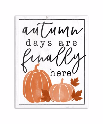 Picture of Autumn Days 11x14 Canvas Wall Art