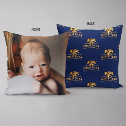 Merry Christmas Gold Double Sided Pillow