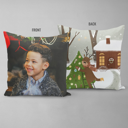 Reindeer Double Sided Pillow