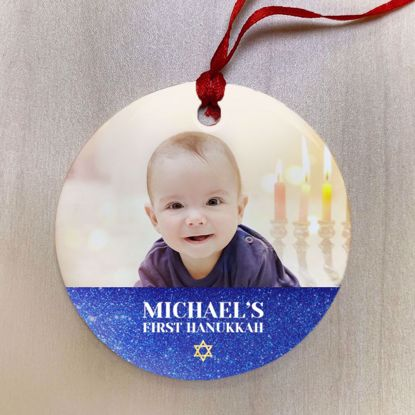 Personalized First Hanukkah Ceramic Ornament