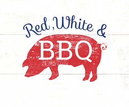 Picture of Red White and BBQ Family 16x20 Personalized Canvas Wall Art