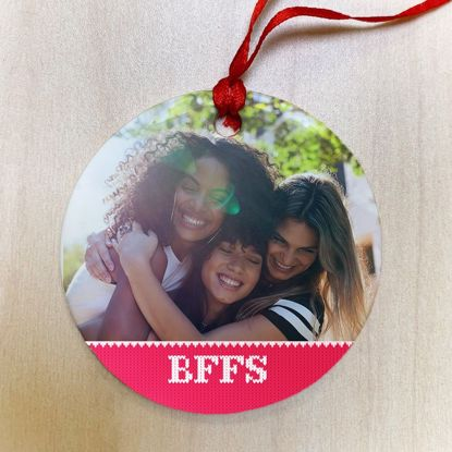 Picture of BFF Ugly Christmas Sweater Ceramic Ornament
