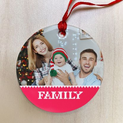 Picture of Family Ugly Christmas Sweater Ceramic Ornament