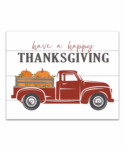 Picture of Happy Thanksgiving 11x14 Canvas Wall Art