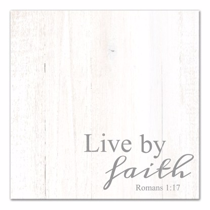 Picture of Live By Faith 14x14 Canvas Wall Art