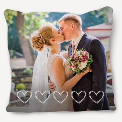 Picture of Custom Heart Pillow with Personalized Image