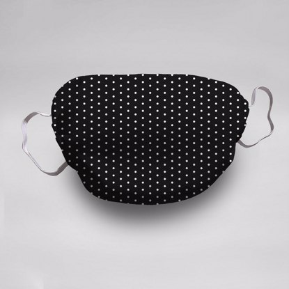 Black Polka Dots Face Mask