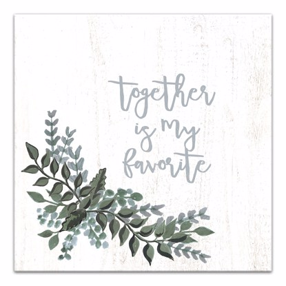 Picture of Together Is My Favorite 14x14 Canvas Wall Art