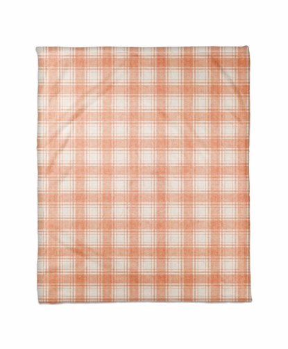 Picture of Harvest Orange Plaid Pattern Blanket