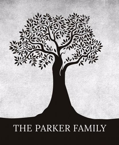Picture of Personalized Family Tree Wall Art - 11x14