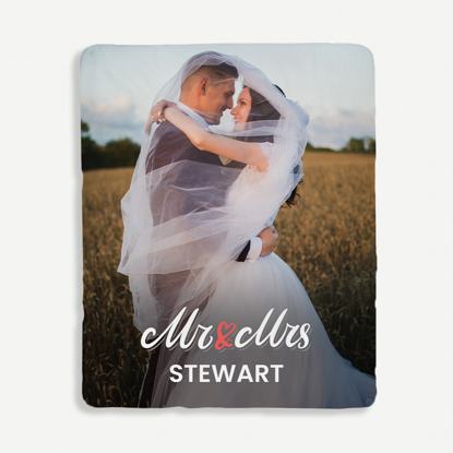 Mr & Mrs Personalized Blanket