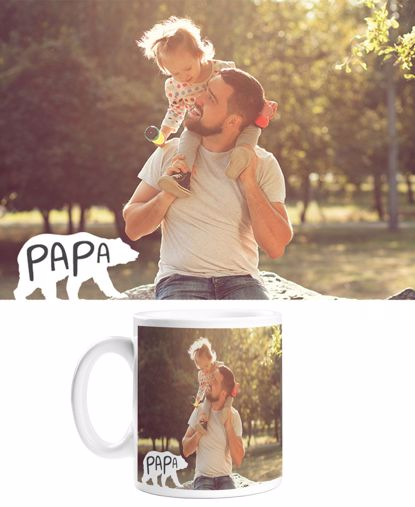 Picture of Custom Papa Bear Mug with Personalized Image