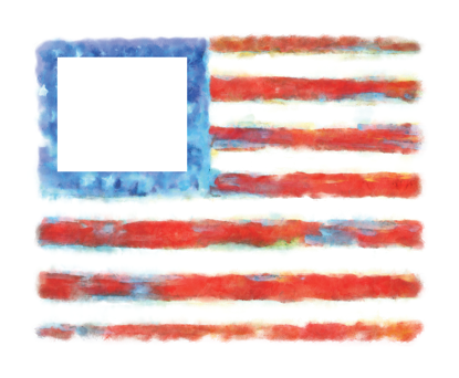 Picture of Watercolor American Flag 16x20 Personalized Canvas Wall Art