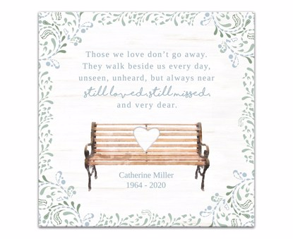 Picture of Those We Love Don't Go Away 12x12 Personalized Canvas Wall Art