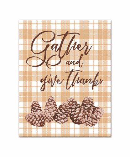 Picture of Gather and Give Thanks 11x14 Canvas Wall Art