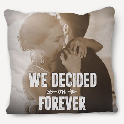 Picture of We Decided on Forever Engagement Pillows