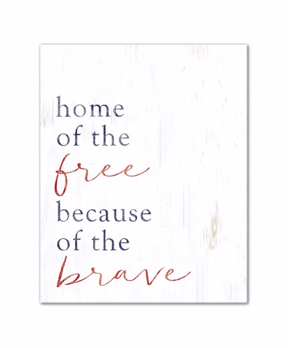 Picture of Home of the Free because of the Brave 16x20 Canvas Wall Art