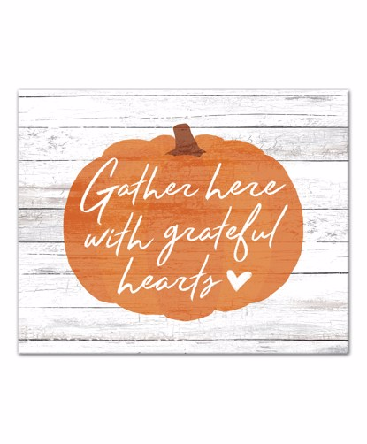 Picture of Gather Here with Grateful Hearts 16x20 Canvas Wall Art