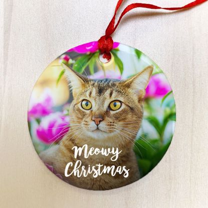 Picture of Meowy Christmas Ceramic Ornament