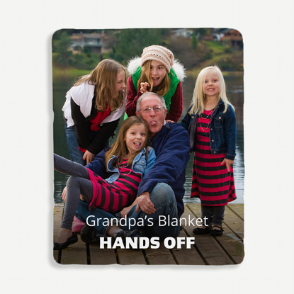 Hands Off Personalized Blanket
