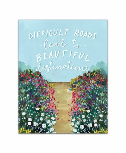 Picture of Difficult Roads Lead to Beautiful Destinations 11x14 Canvas Wall Art