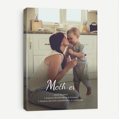 Picture of Definition of Mother Canvas with Custom Image - 11x14