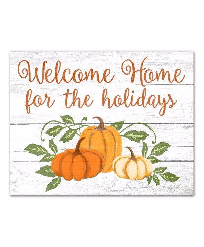 Picture of Welcome Home for the Holidays 11x14 Canvas Wall Art