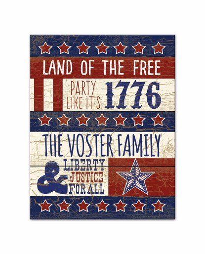 Picture of American Celebration 11x14 Personalized Canvas Wall Art