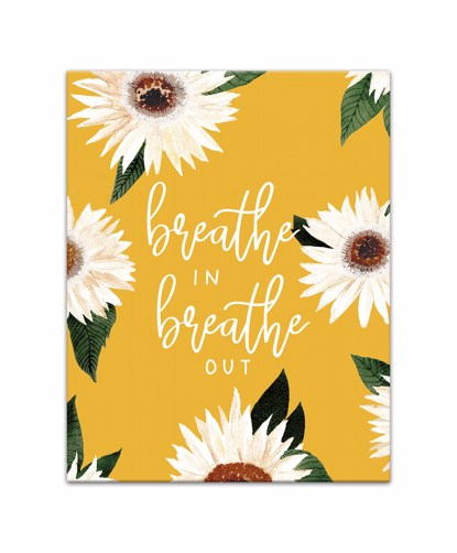 Picture of Breathe In Breathe Out 11x14 Canvas Wall Art