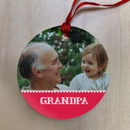 Picture of Grandpa Ugly Christmas Sweater Ceramic Ornament