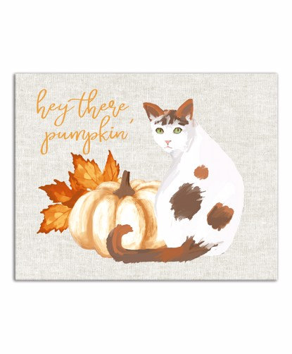 Picture of Hey There Pumpkin 11x14 Canvas Wall Art