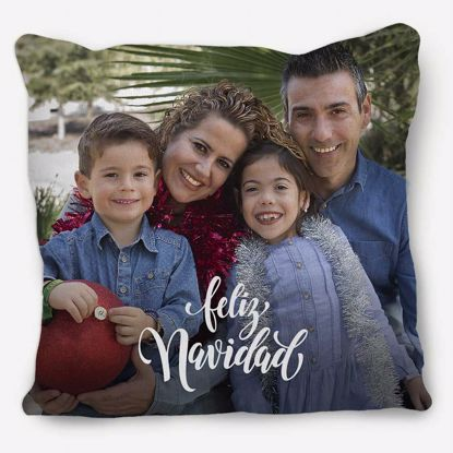Picture of Feliz Navidad Pillow with Custom Image