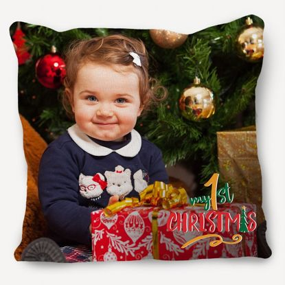 Picture of Baby's 1st Christmas Pillow