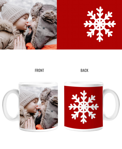 Snowflake Double Sided Mug