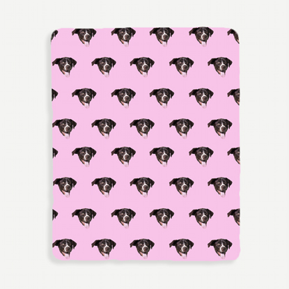 Face Pattern Pink Background Blanket