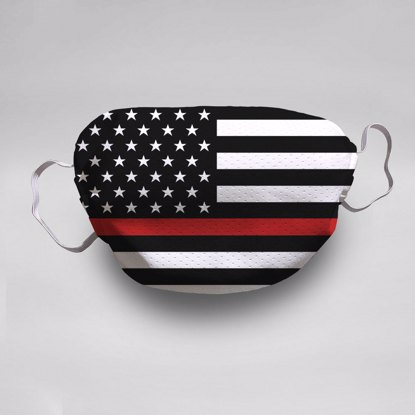 Firefighter Flag Face Mask