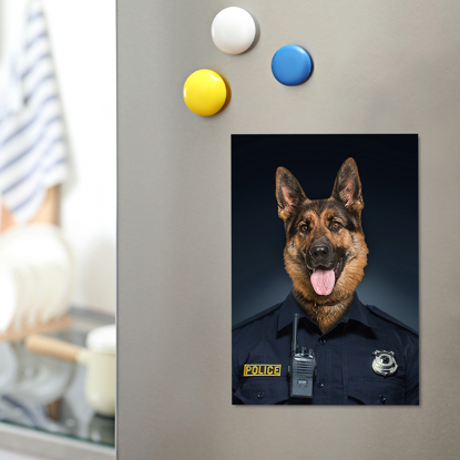 Essential Pet Magnet - Police