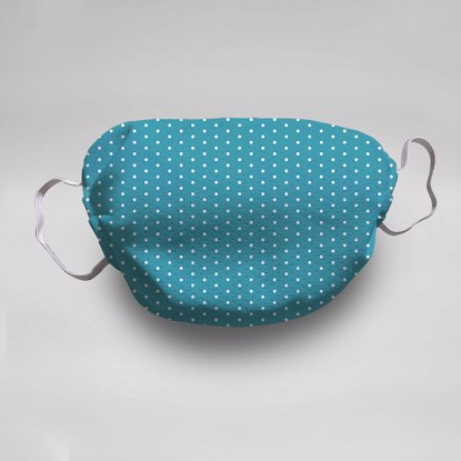 Turquoise Polka Dots Face Mask