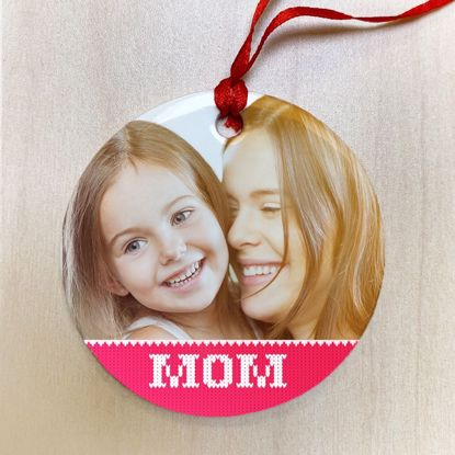 Picture of Mom Ugly Christmas Sweater Ceramic Ornament