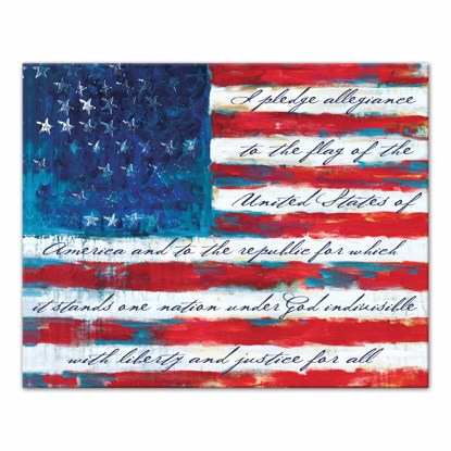Picture of Pledge of Allegiance 16x20 Canvas Wall Art