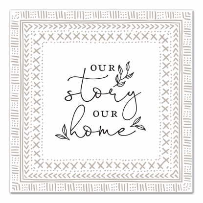 Picture of Our Story Our Home 14x14 Canvas Wall Art