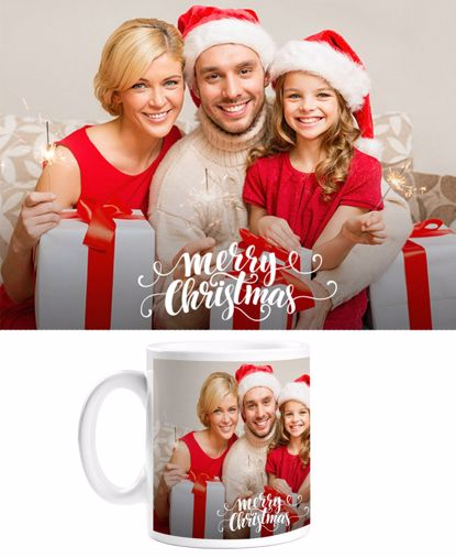 Picture of Merry Christmas Mug with Custom Image