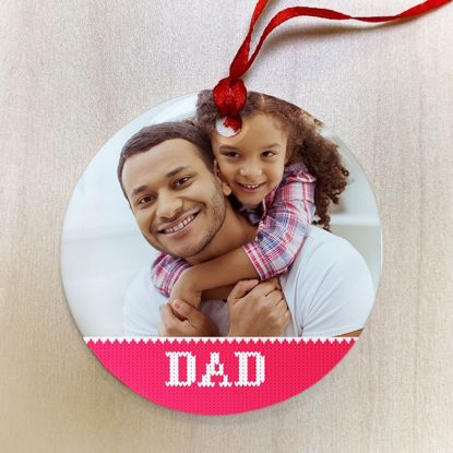 Picture of Dad Ugly Christmas Sweater Ceramic Ornament