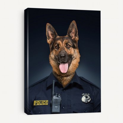 Picture of Police Officer Pet