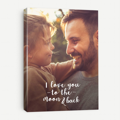 Picture of I Love You to The Moon and Back Canvas